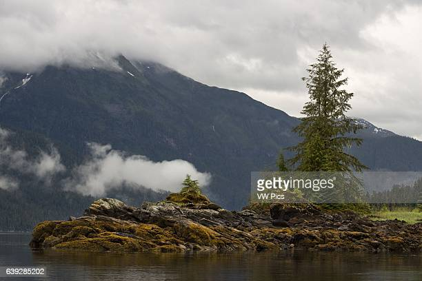 Landscape of Scenery Cove Thomas Bay Petersburg Southeast Alaska Thomas Bay is located in southeast Alaska It lies northeast of Petersburg Alaska and...