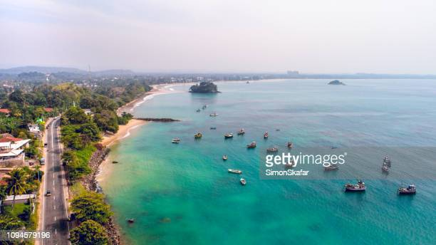 landscape of sea and coastline in sri lanka - sri lanka stock pictures, royalty-free photos & images