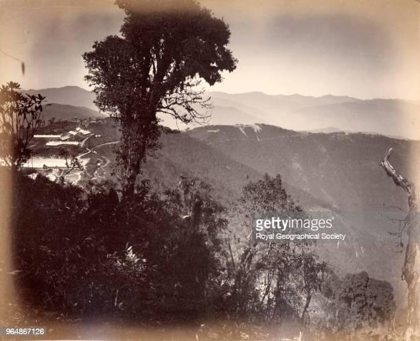 Landscape of side of valley near Darjeeling West Bengal India 1860
