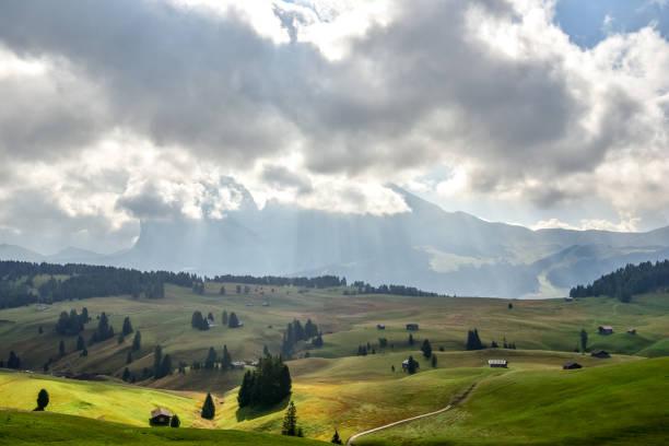 Landscape of Siser Alm (Alpe di Siusi), Dolomite, Italy