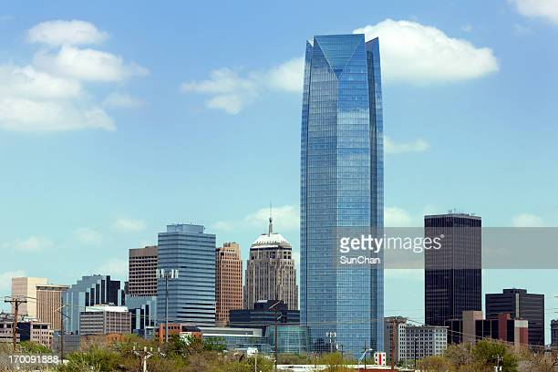 landscape of skyscrapers in oklahoma city during the day - oklahoma city stock pictures, royalty-free photos & images