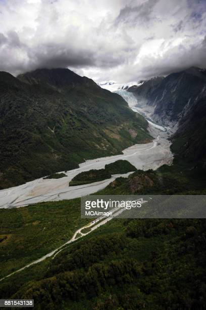 landscape of south island,new zealand - alpes do sul da nova zelândia - fotografias e filmes do acervo