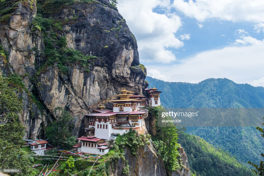 Landscape of Taktsang monastery  incredible temple located on the cliff near paro city : Stock-Foto