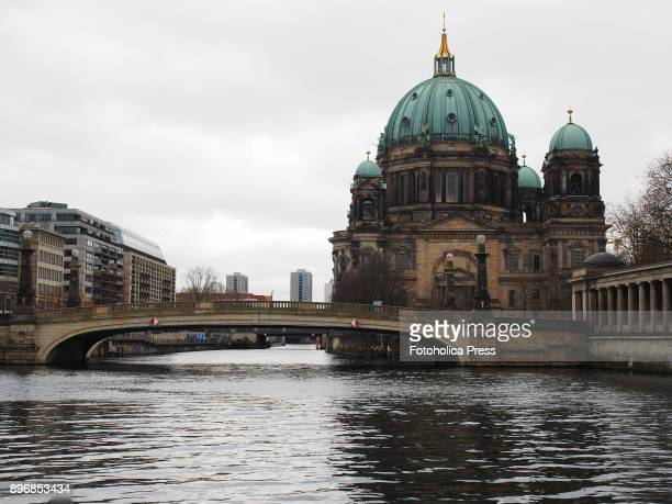 Landscape of the Berlin Cathedral The Evangelical Supreme Parish and Collegiate Church and bridge over the Spree River
