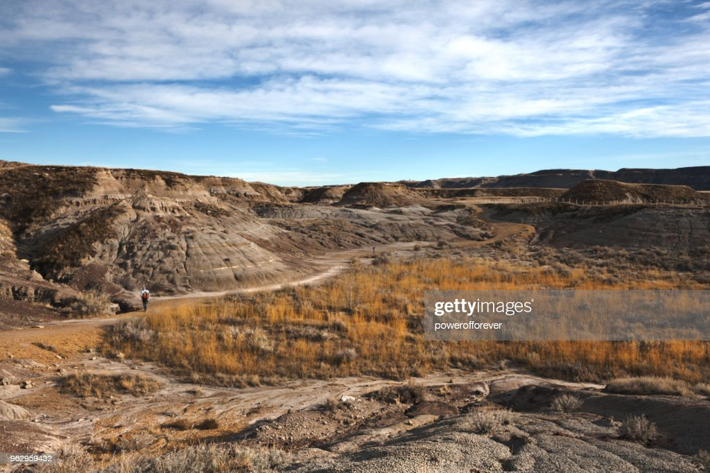 HDR Landscape of the Canadian Badlands, Alberta, Canada : Stock Photo