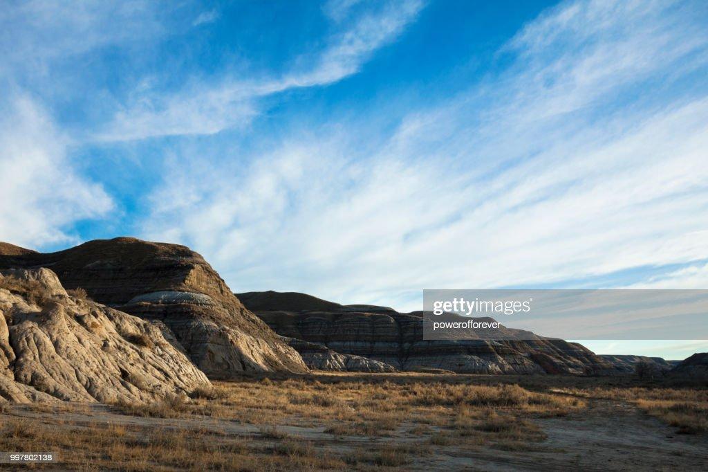 Landscape of the Canadian Badlands, Alberta, Canada : Stock Photo