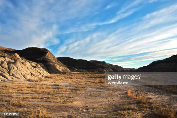 HDR Landscape of the Canadian Badlands at Sunrise in Alberta, Canada
