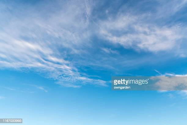 landscape of the clear sky - blue stock pictures, royalty-free photos & images