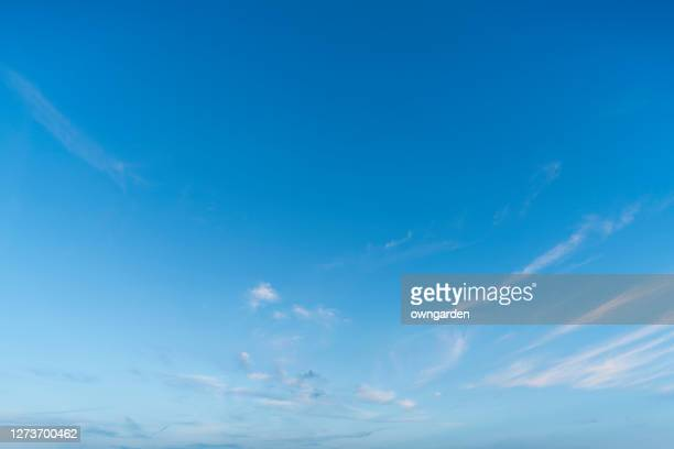 landscape of the clear sky - blue ストックフォトと画像