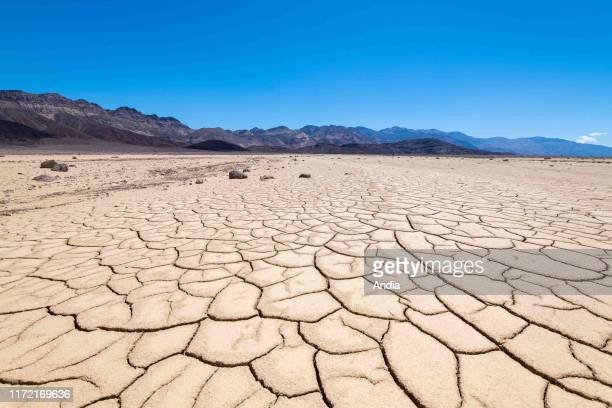 Landscape of the Death Valley National Park, California, USA. Earth cracked and dried out because of the sun.