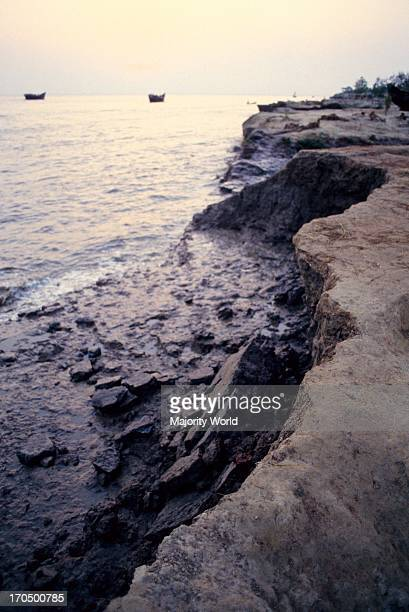 Landscape of the eroding shoreline of the Bay of Bengal after the 1991 cyclone The 1991 cyclone was one of the deadliest tropical cyclones on record...
