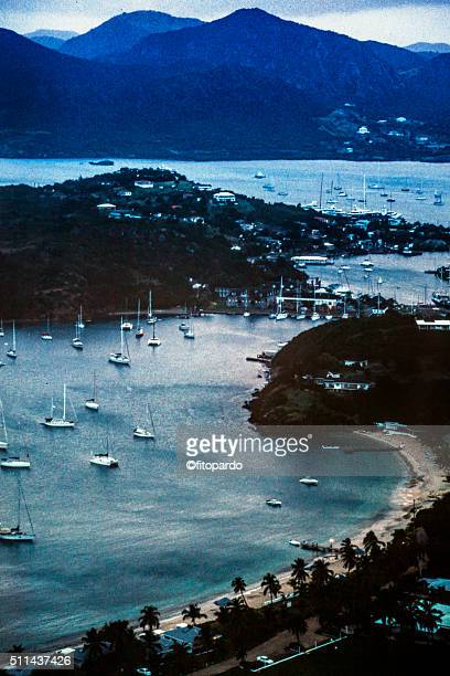 Landscape of the marina at St Johns, Antigua