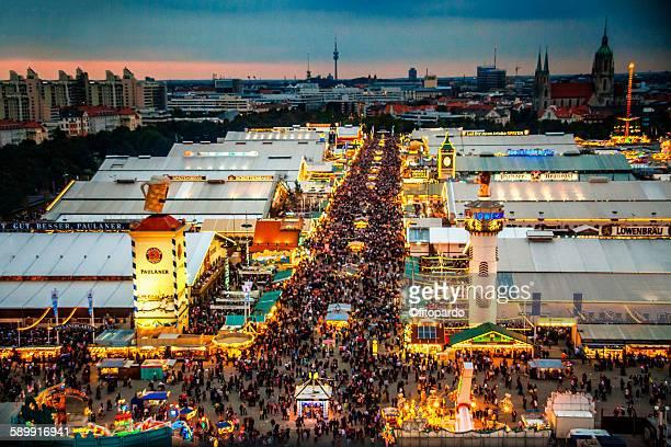 Landscape of the Oktoberfest in Munich