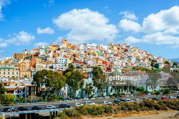 landscape of the risco de san juan en las palmas de gran canaria - las palmas de gran canaria stock pictures, royalty-free photos & images