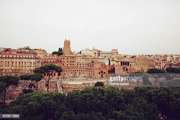 Landscape of the ruins in Rome