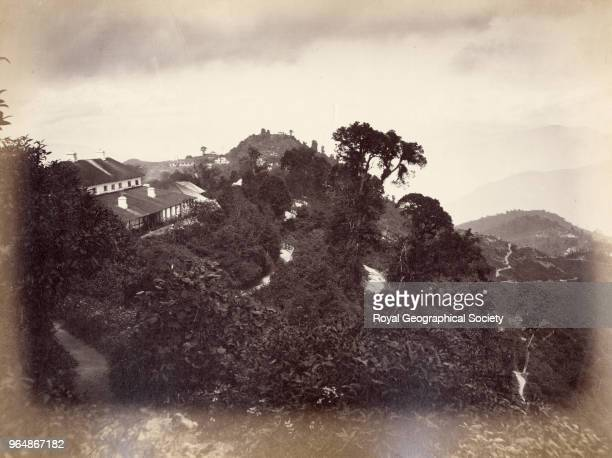 Landscape of the side of a valley near Darjeeling West Bengal India 1860