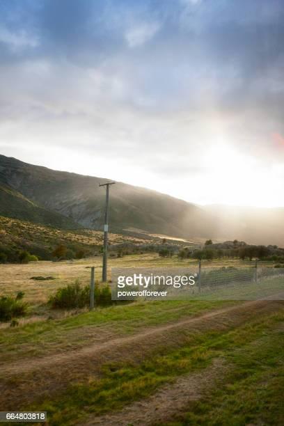 Landskapet i södra Alperna i Nya Zeeland