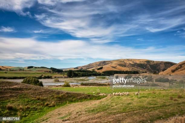 Paysage des Alpes du Sud, en Nouvelle Zélande
