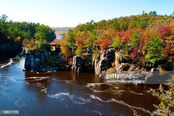 Landscape of the St Croix River in the autumn