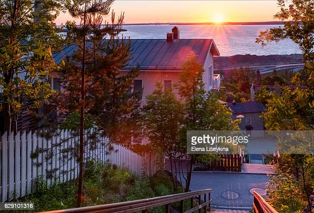 Landscape of the Tampere town. Finland.