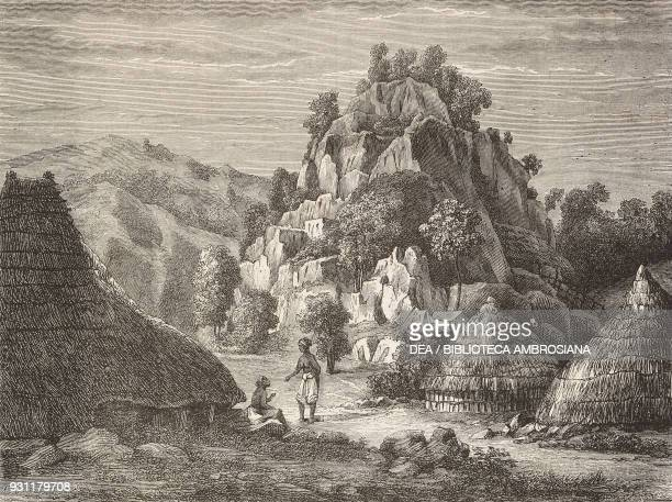 Landscape of Timor island drawing by Sorrieu from The Malay Archipelago 18611862 by Alfred Russell Wallace from Il Giro del mondo Journal of...