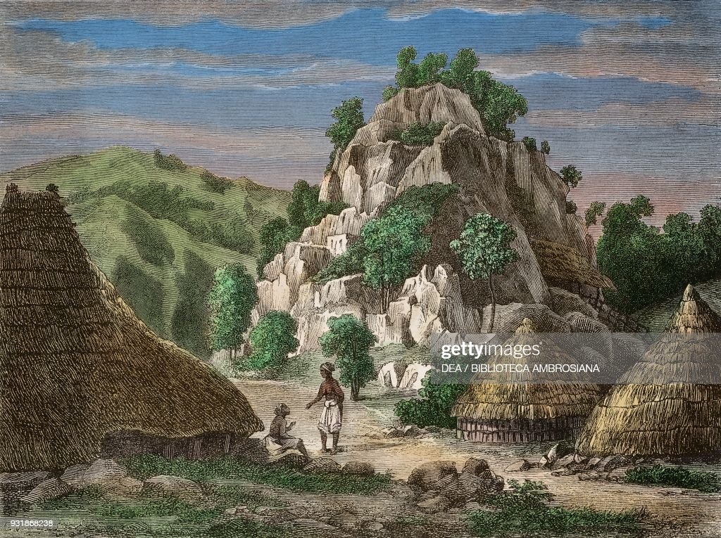 Landscape of Timor island, drawing : News Photo