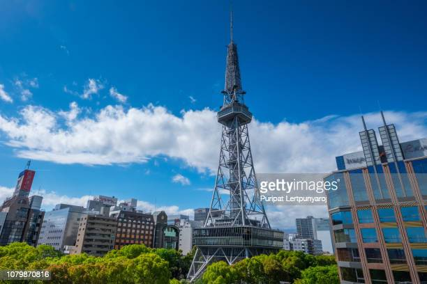 landscape of tv tower in nagoya city, japan - aichi prefecture stock pictures, royalty-free photos & images