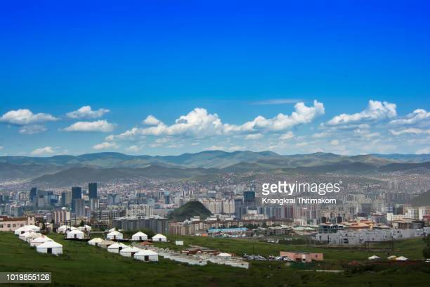 landscape of ulaanbaatar, mongolia - independent mongolia stock pictures, royalty-free photos & images