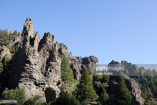 landscape of valle encantado in bariloche area of argentina - bariloche stock pictures, royalty-free photos & images
