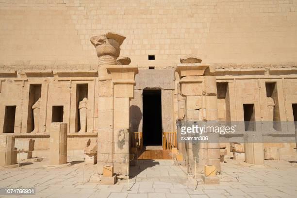 landscape of Valley of Deir el-Bahri with  Temple of Hatshepsut, Deir el-Bahari, Luxor, Thebes, Egypt