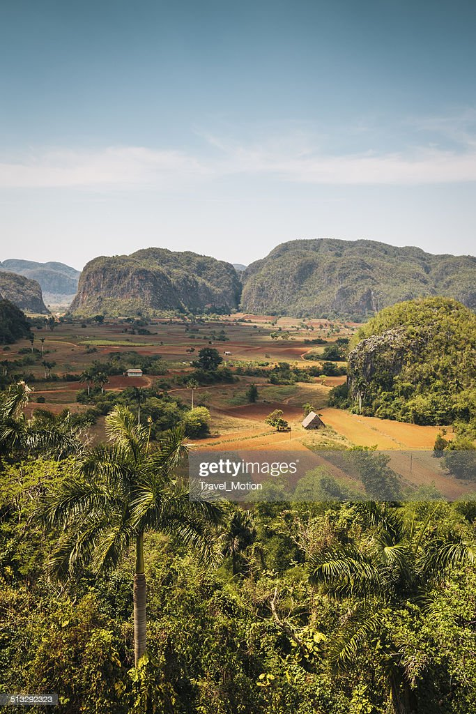 Landscape of Vinales Valley in Cuba : Stock Photo