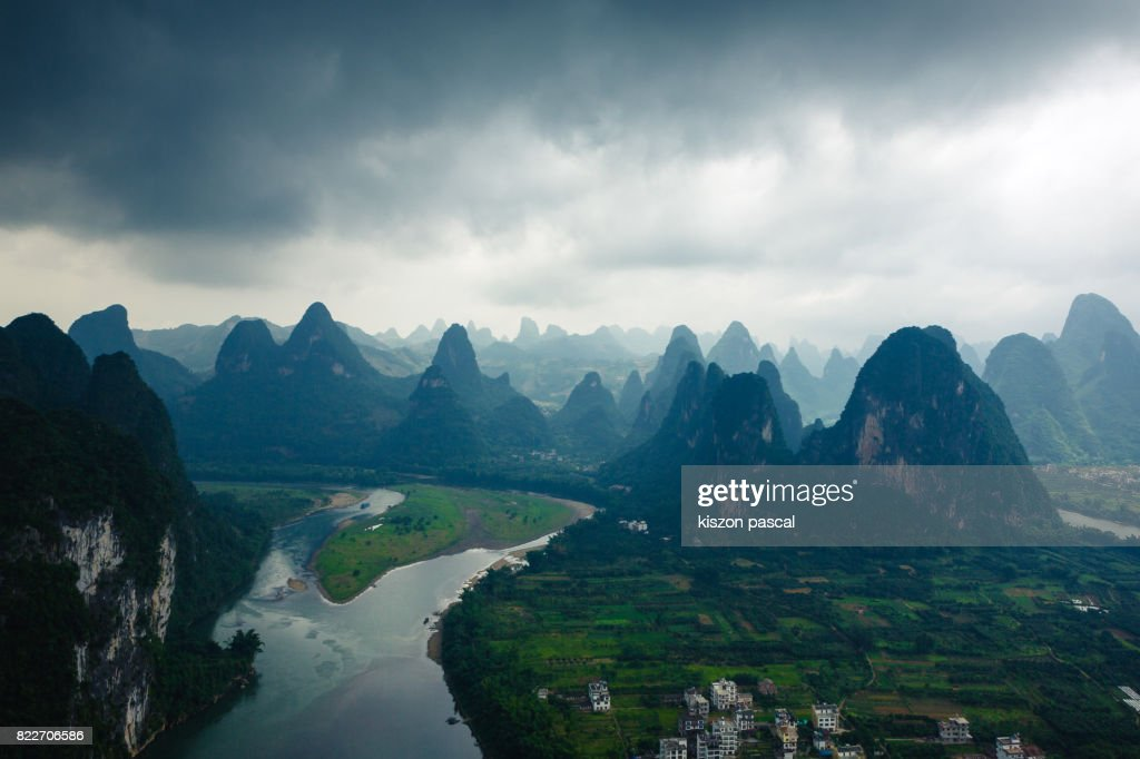 landscape of Yangshuo in China in day : Stock Photo