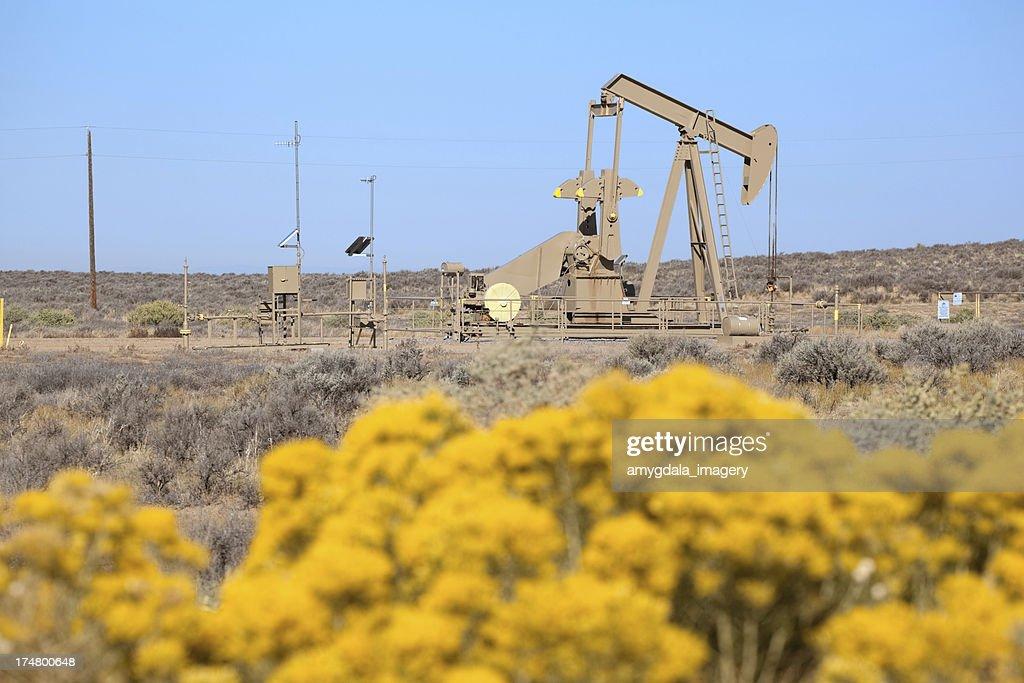 landscape oil drill : Stock Photo