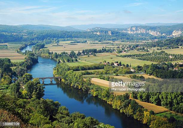 landscape on dordogne - phil haber stock pictures, royalty-free photos & images