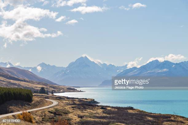 Landscape on the road to Mount Cook