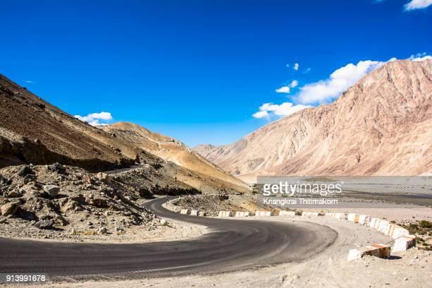 Landscape on the way to Nubra Valley, Ladakh region, India.