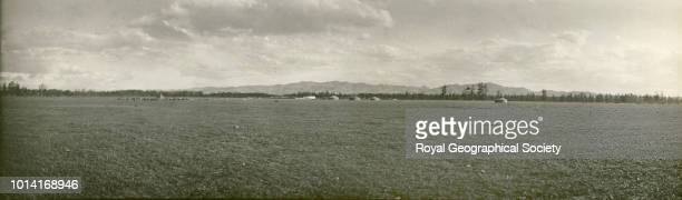 Landscape panorama with yurts Dzungaria Mongolia Mongolia 1910 Carruthers/Miller Expedition to Central Asia 191011