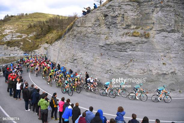 Landscape / Peloton / Aretxabaigane 324m / during the 58th Vuelta Pais Vasco 2018 Stage 3 a 1848km stage from Bermeo to Valdegovia 564m on April 4...