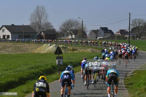 Landscape / Peloton / Cobblestones / during the 62nd E3 Harelbeke 2019 a 203,9km race from Harelbeke to Harelbeke / #E3BinckBankClassic / on March...