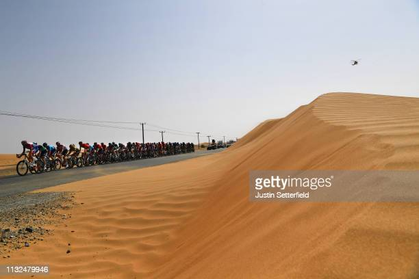 Landscape / Peloton / Desert / Dune / during the 5th UAE Tour 2019 Stage 4 a 197km stage from Palm Jumeirah Dubai to Hatta Dam 419m / #UAETour / on...