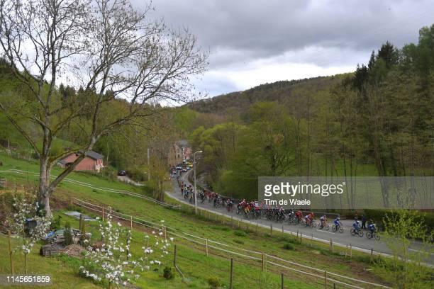 Landscape / Peloton / during the 105th Liege Bastogne Liege 2019 a 256km race from Liege to Liege / @LiegeBastogneL / #LBL / on April 28 2019 in...