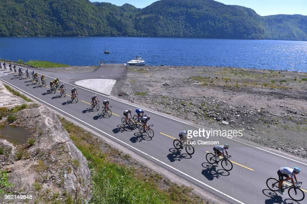 Landscape / Peloton / during the 11th Tour des Fjords 2018 Stage 3 a 183km stage from Farsund to Egersund on May 24 2018 in Egersund Norway