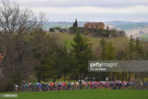 Landscape / Peloton / during the 54th Tirreno-Adriatico 2019, Stage 6 a 195km stage from Matelica to Jesi 92m / #TirrenoAdriatico / on March 18, 2019...