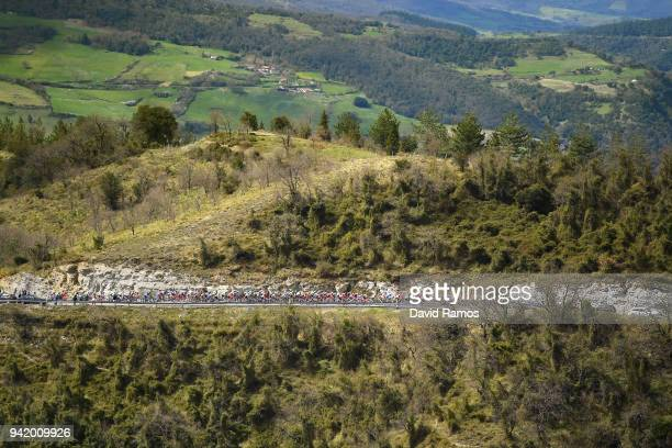 Landscape / Peloton / during the 58th Vuelta Pais Vasco 2018 Stage 3 a 1848km stage from Bermeo to Valdegovia 564m on April 4 2018 in Valdegovia Spain