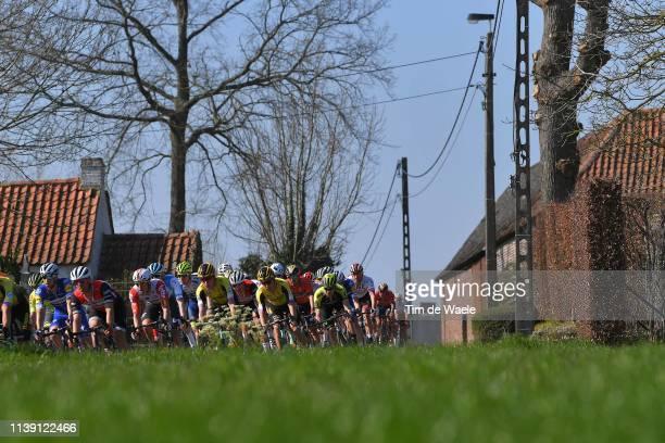 Landscape / Peloton / during the 62nd E3 Harelbeke 2019 a 203,9km race from Harelbeke to Harelbeke / #E3BinckBankClassic / on March 29, 2019 in...