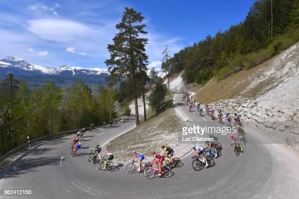 Landscape / Peloton / during the 72nd Tour de Romandie 2018 Stage 4 a 1492km stage from Sion to Sion on April 28 2018 in Sion Switzerland