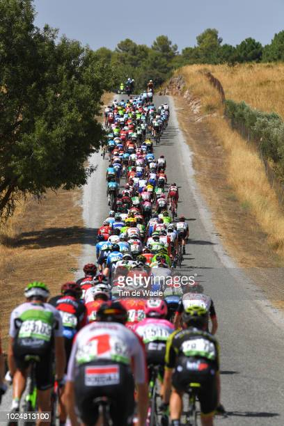 Landscape / Peloton / during the 73rd Tour of Spain 2018, Stage 4 a 161,4km stage from Velez-Malaga to Alfacar. Sierra de la Alfaguara - Puerto de...
