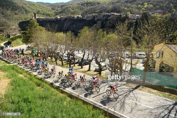 Landscape / Peloton / during the 99th Volta Ciclista a Catalunya 2019, Stage 3 a 179km stage from Sant Feliu de Guíxols to Vallter 2150m / VCC /...