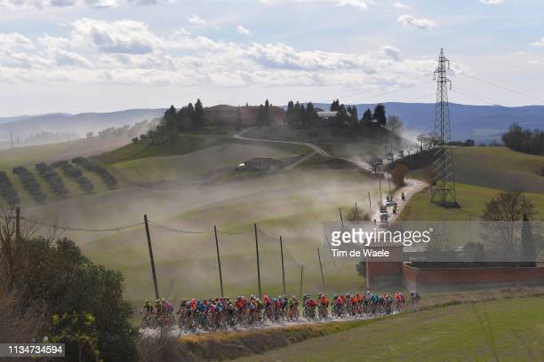 Landscape / Peloton / Dust / during the Eroica - 13th Strade Bianche 2019 a 184km race from Siena to Siena-Piazza del Campo / @StradeBianche / on...