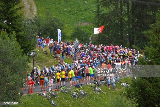Landscape / Peloton / Fans / Public / during the 105th Tour de France 2018 / Stage 10 a 158,5km stage from Annecy to Le Grand-Bornand 943m on July...